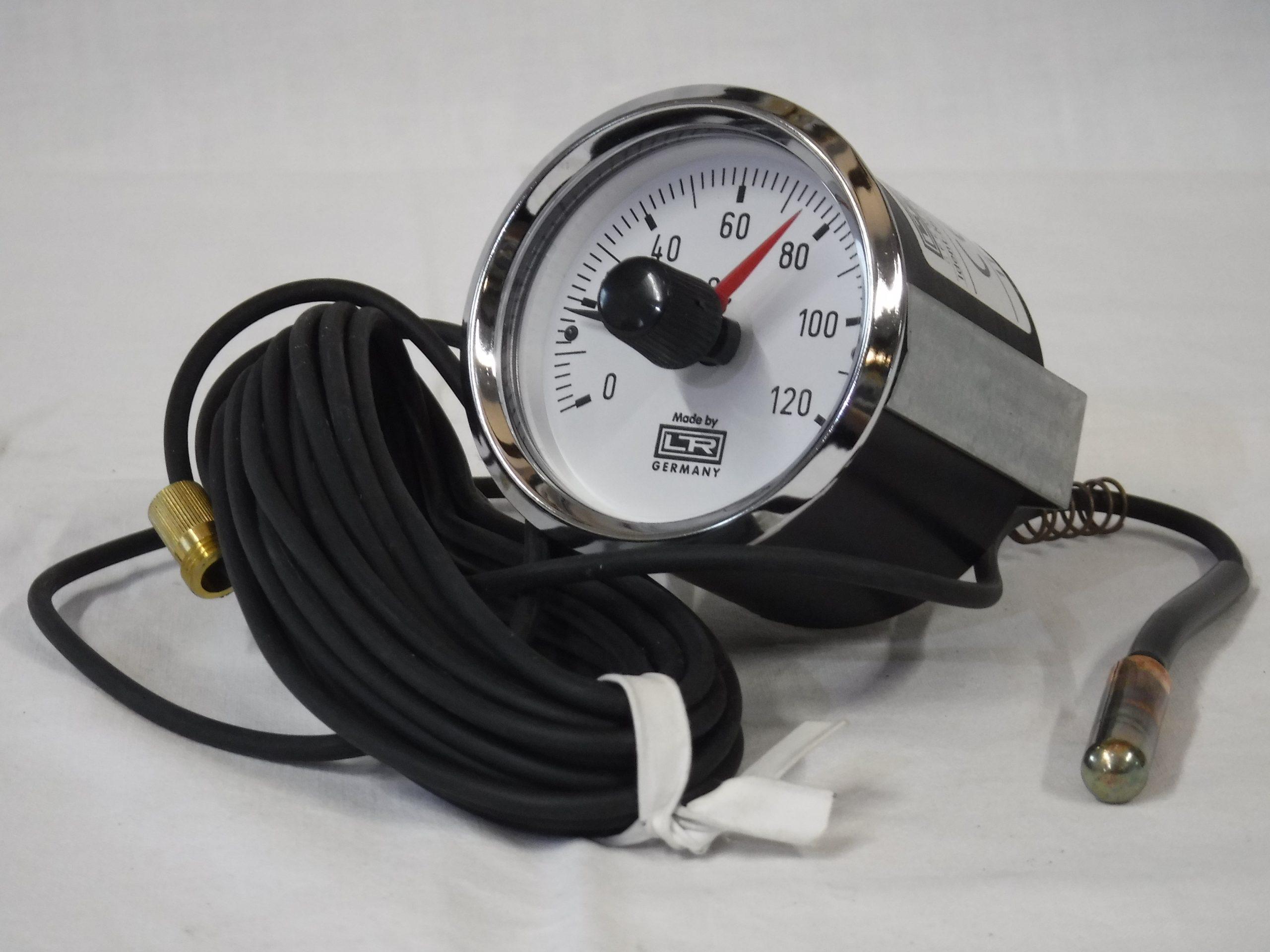 Termometer z nastavljivo blokado